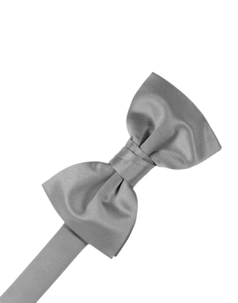 Silver Luxury Satin Bow Tie