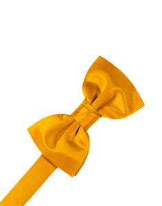 Tangerine Luxury Satin Bow Tie