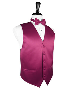 Watermelon Luxury Satin Tuxedo Vest