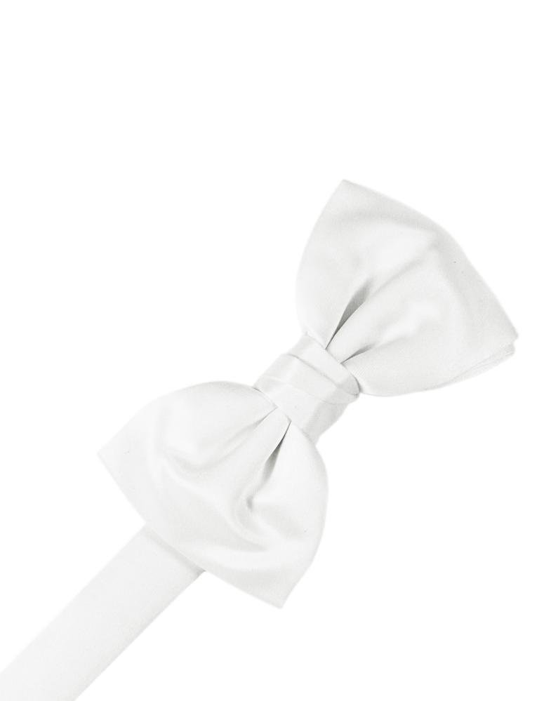 White Luxury Satin Bow Tie