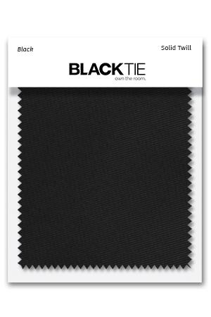 Black Solid Twill Fabric Swatch