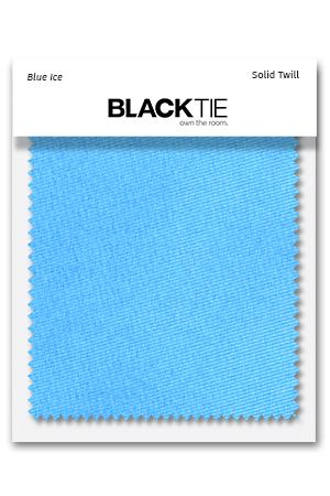 Blue Ice Solid Twill Fabric Swatch
