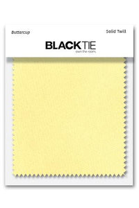 Buttercup Solid Twill Fabric Swatch