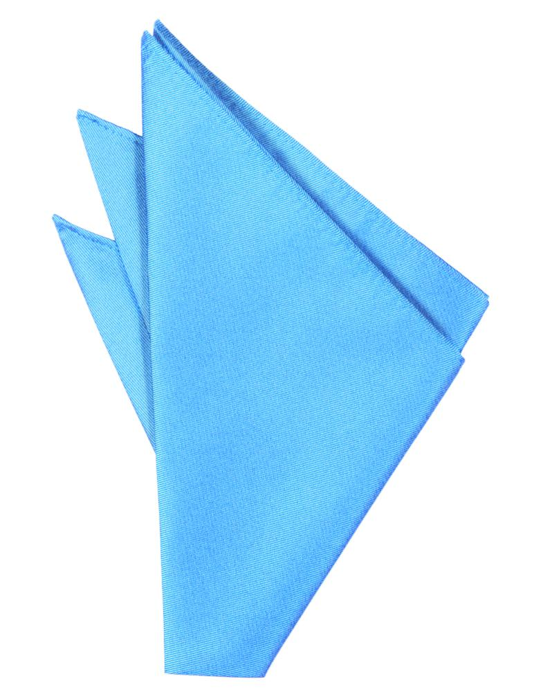Blue Ice Solid Twill Pocket Square