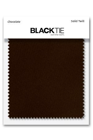 Chocolate Solid Twill Fabric Swatch