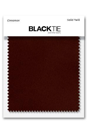 Cinnamon Solid Twill Fabric Swatch