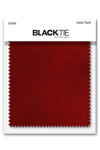 Claret Solid Twill Fabric Swatch