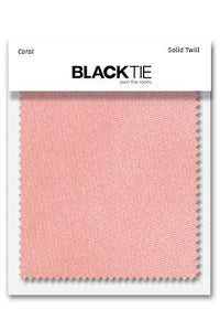 Coral Solid Twill Fabric Swatch