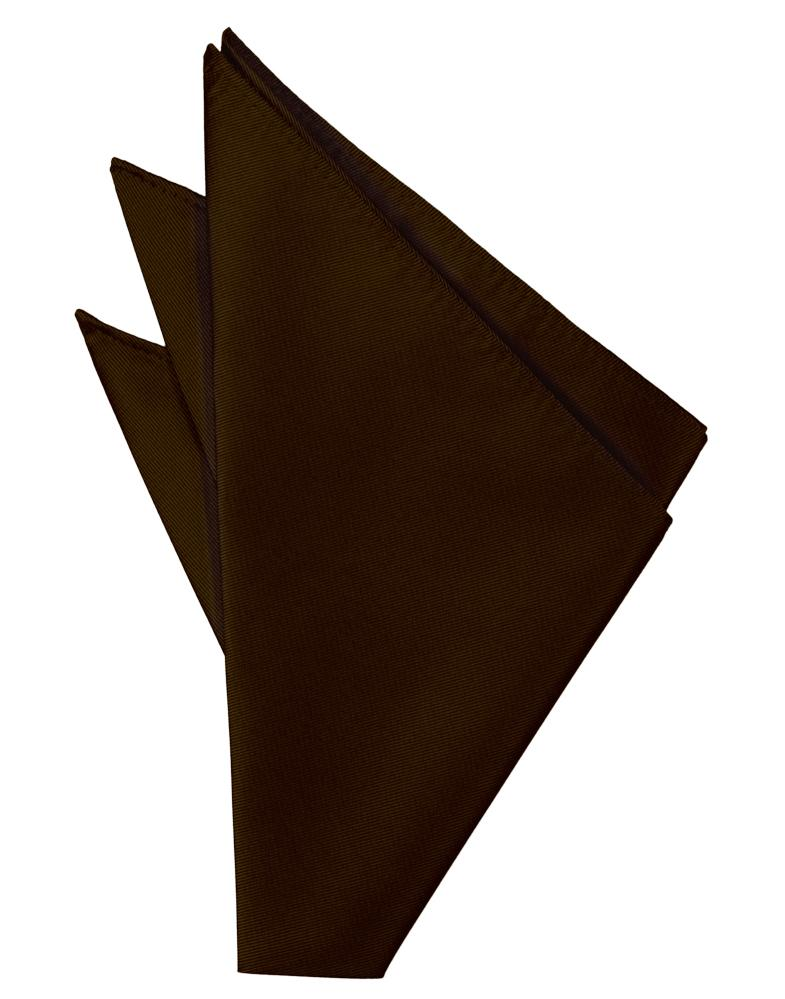 Chocolate Solid Twill Pocket Square