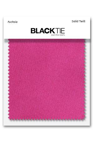 Fuchsia Solid Twill Fabric Swatch