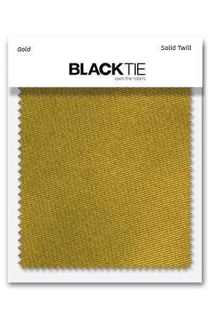 Gold Solid Twill Fabric Swatch