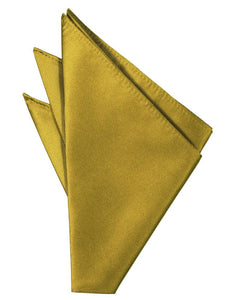 Gold Solid Twill Pocket Square