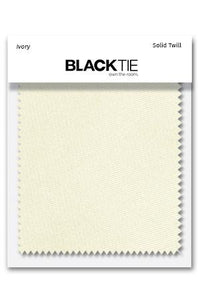 Ivory Solid Twill Fabric Swatch