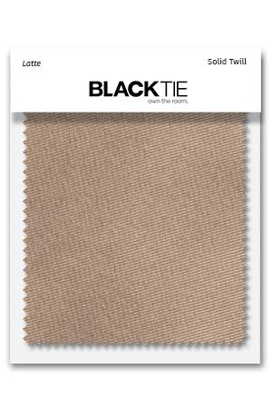 Latte Solid Twill Fabric Swatch