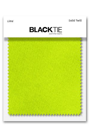 Lime Solid Twill Fabric Swatch