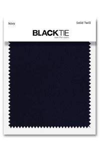 Navy Solid Twill Fabric Swatch