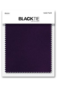 Raisin Solid Twill Fabric Swatch