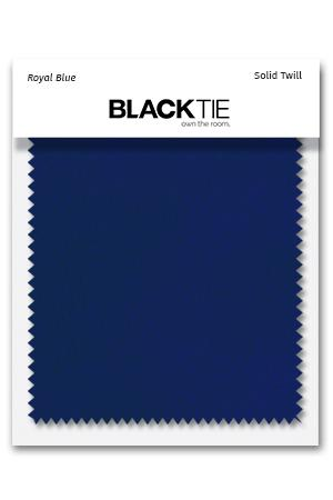 Royal Blue Solid Twill Fabric Swatch