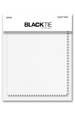 White Solid Twill Fabric Swatch