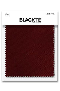 Wine Solid Twill Fabric Swatch