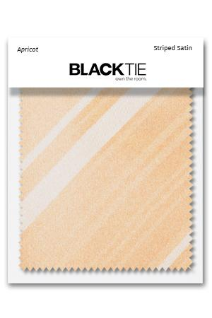 Apricot Striped Satin Fabric Swatch