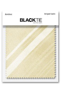 Bamboo Striped Satin Fabric Swatch