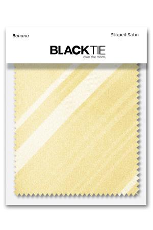 Banana Striped Satin Fabric Swatch