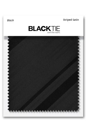 Black Striped Satin Fabric Swatch