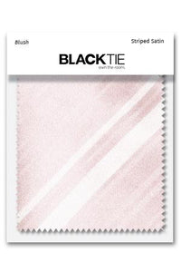 Blush Striped Satin Fabric Swatch