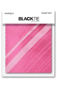 Bubblegum Striped Satin Fabric Swatch
