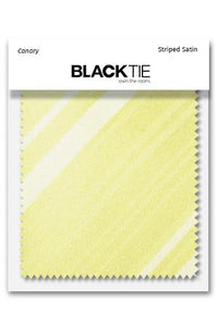 Canary Striped Satin Fabric Swatch
