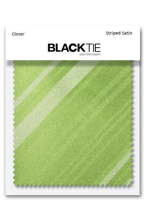 Clover Striped Satin Fabric Swatch