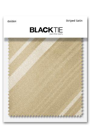 Golden Striped Satin Fabric Swatch