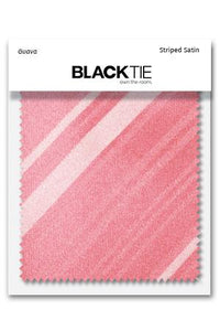 Guava Striped Satin Fabric Swatch