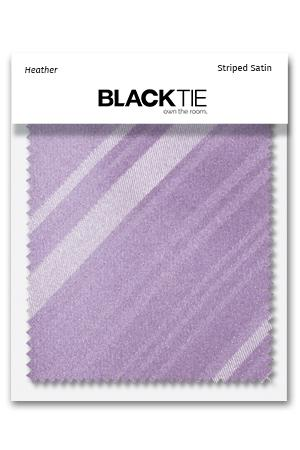 Heather Striped Satin Fabric Swatch