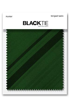 Hunter Striped Satin Fabric Swatch