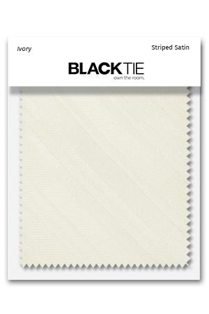 Ivory Striped Satin Fabric Swatch