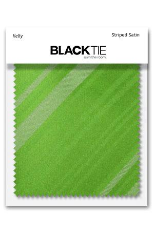 Kelly Striped Satin Fabric Swatch