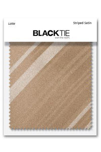 Latte Striped Satin Fabric Swatch