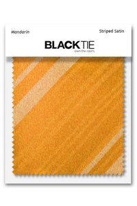 Mandarin Striped Satin Fabric Swatch