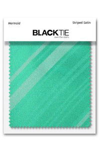 Mermaid Striped Satin Fabric Swatch