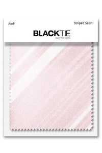 Pink Striped Satin Fabric Swatch