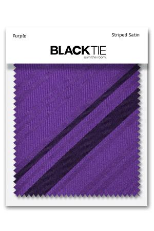 Purple Striped Satin Fabric Swatch