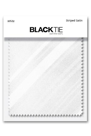 White Striped Satin Fabric Swatch