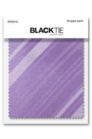 Wisteria Striped Satin Fabric Swatch