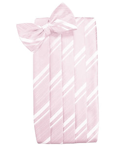 Blush Striped Satin Cummerbund