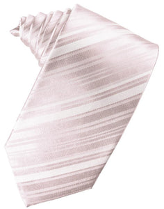 Blush Striped Satin Necktie