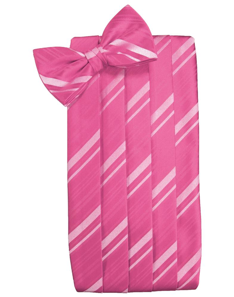 Bubblegum Striped Satin Cummerbund