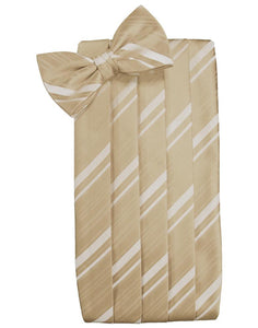 Golden Striped Satin Cummerbund