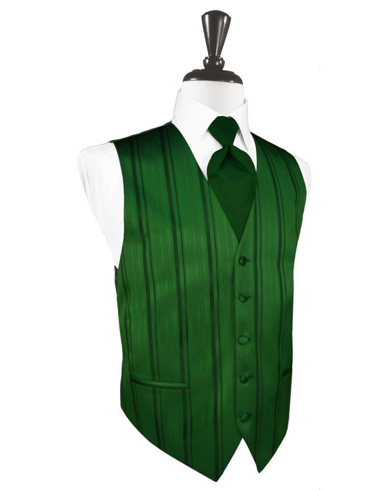 Hunter Striped Satin Tuxedo Vest